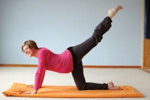 Yoga für Schwangere - der 'Tiger'