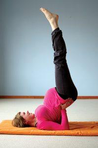 Yoga für Schwangere - die umkehrende Stellung