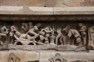 Die tantrische Tempel in Katjoraho