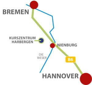 Lagekarte Harbergen Retreat Zentrum