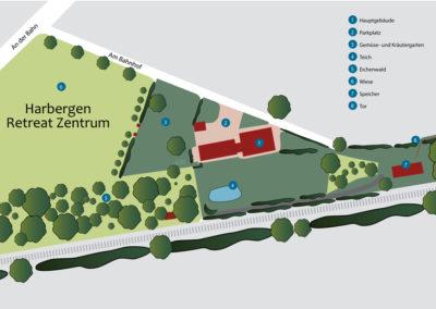 Harbergen Retreat Zentrum - Übersichtskarte